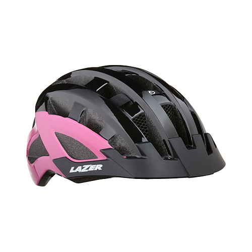 Lazer Casco Petit DLX Black pink uni +net+led